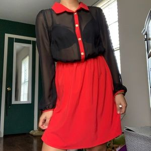 Button front collared dress